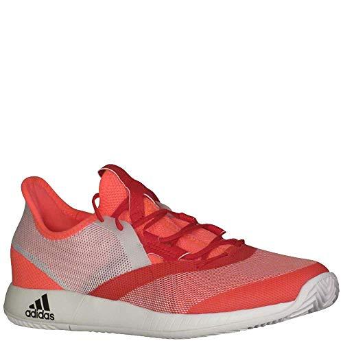 adidas Women's Adizero Defiant Bounce Tennis Shoe, Flash red/White/Scarlet, 9 M US