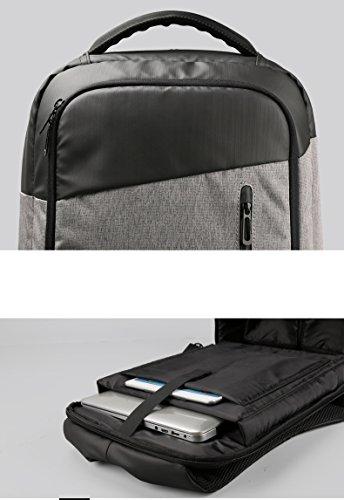 Mochila para ordenador 15,6portátil antirrobo con puerto USB cargador peso ligero funcional resistente al agua para hombres a a