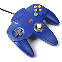 Game Controller Diswoe Wired Controllers  for Nintendo 64- Blue