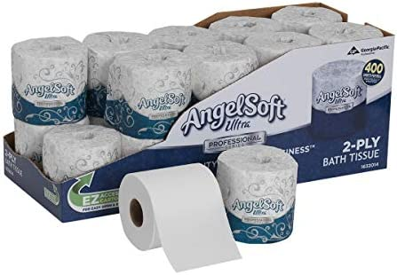 ngel Soft Ultra Professional Series 2-Ply Embossed Toilet Paper through GP PRO, 1632014, 400 Sheets Per Roll, 20 Rolls Per Convenience Case