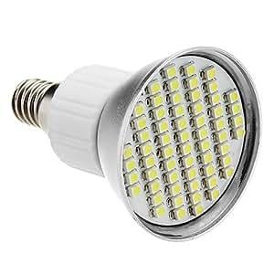 E14 4W 60x3528SMD 200-240LM 6000-6500K Natural White Light LED Spot Bulb (85-265V)