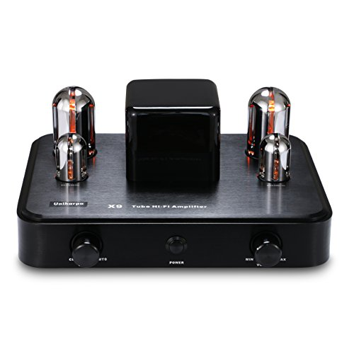 Uniharpa Professional Audio-Frequency Vacuum Tube Amplifier X9 110V-240V with Bluetooth AUX Input for Hifi CD Player Audio