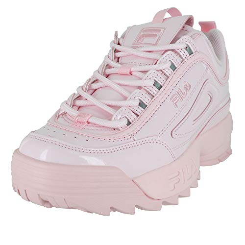 Fila Women's Disruptor II Premium Patent Sneakers, Chalk Pink/Chalk Pink, 5.5 M US (Sneakers Patent Leather)