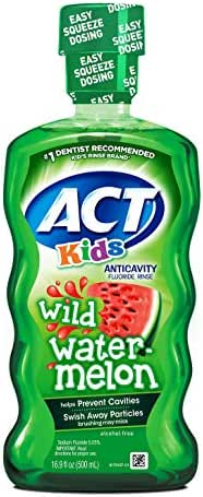 ACT Kids Anticavity Fluoride Rinse Wild Watermelon 16.89 Ounce