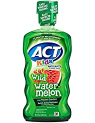 ACT Kids Anticavity Fluoride Rinse, Wild Watermelon, 16.89 Ounce