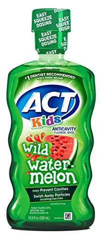 - ACT Kids Anticavity Fluoride Rinse Wild Watermelon 16.89 Ounce
