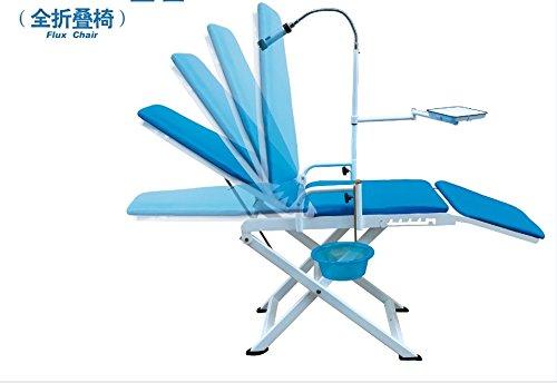 Zeta Portable Dental Chair with LED Spotlight Spittoon Check Lamp 110V
