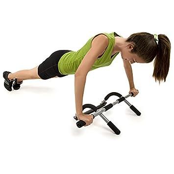 Jocca 6143 - Barra de ejercicios, color plateado / negro: Amazon.es: Deportes y aire libre