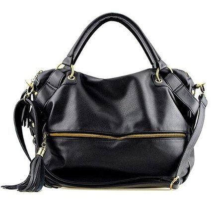 excellent-black-b904-pu-simple-design-shoulder-bag-womens-crossbody-handbags