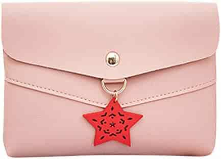 e28cab3f63 Yihaojia Women Leather Solid Color Star Pattern Shoulder Bag Messenger  Satchel Tote Crossbody Bag Phone Bag