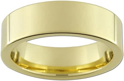 7mm Gold Tungsten Carbide Rings (full & half sizes 5-15)