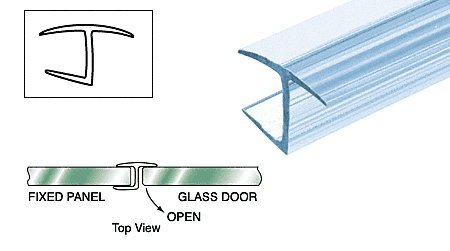 C.R. LAURENCE P10MMHJ CRL Polycarbonate ''h'' Jamb 180 Degree for 10 mm Glass