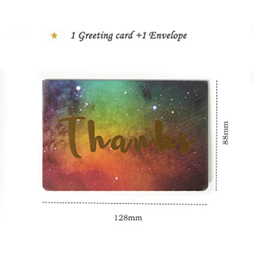 Crane Paper Wedding Invitations - CHITOP [1pcs] Creative Bronzing word Star universe greeting card - Wedding Invitation - Thanksgiving Card - Galaxy Color Card (Thanks)