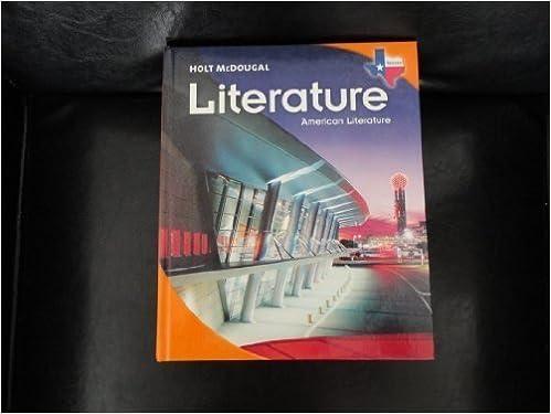 Holt McDougal Literature Texas Student Edition American