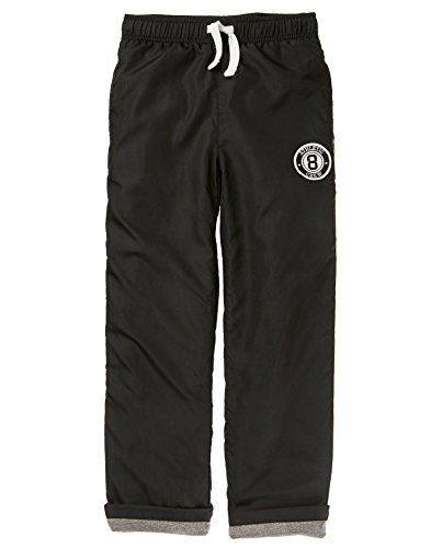 Pants Fully Lined (Crazy 8 Little Boys' Jersey Lined Track Pant, Black, XL)