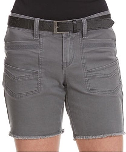 Unionbay Junior's Amber Belted Twill Bermuda Shorts (3, Light Galaxy Grey) (Belted Shorts Unionbay)