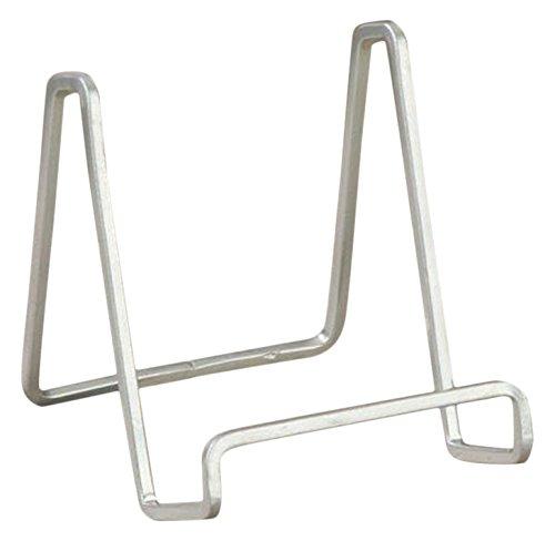 TRIPAR SS-TRI-50213 3.53 Inch Silver Color Metal Square Wire Stand