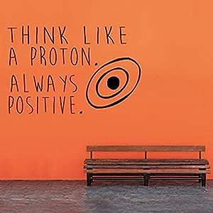 jiushivr Piense como un átomo de protones Tatuajes de Pared ...