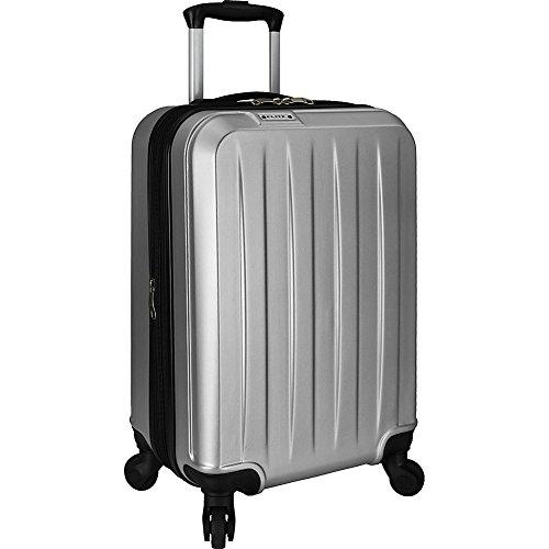 US Traveler Elite Dori 21-inch Expandable Hardside Carry-On Spinner Upright Suitcase (Upright Silver Hardside Luggage)