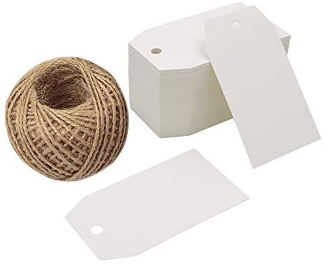 50 pcs  Kraft Paper Hang Tags Birthday Party Favor Gift Label Cards DI GK