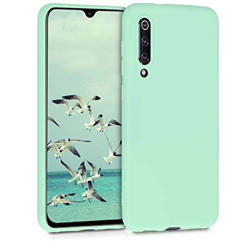 kwmobile TPU Silicone Case Compatible with Xiaomi Mi 9 SE - Soft Flexible Protective Phone Cover - Mint Matte
