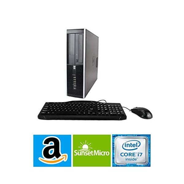HP Elite 8300 SFF Small Form Factor Business Desktop Computer, Intel Quad-Core i7-3770 up to 3.9Ghz CPU, 8GB RAM, 256GB SSD, DVD, USB 3.0, Windows 10 Professional (Renewed)