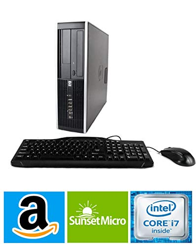 HP Elite 8300 SFF Small Form Factor Business Desktop Computer, Intel Quad-Core i7-3770 up to 3.9Ghz CPU, 8GB RAM, 256GB SSD, DVD, USB 3.0, Windows 10 Professional (Renewed)