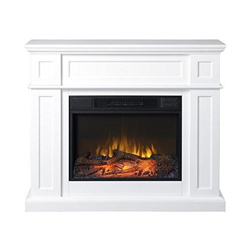 "Homestar ZCUMBRIA Wide Electric Fireplace Mantel, 41"" x 11 7"