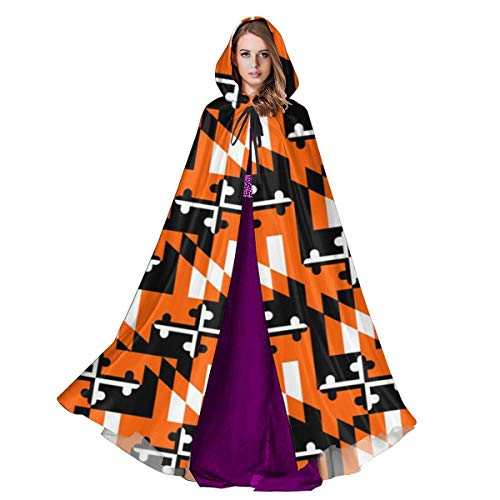 Halloween Costume Party Baltimore (2vf78wew11 Maryland Flag Baltimore Unisex Hooded Cape Cloak Halloween Party Vampires Cosplay Costumes)