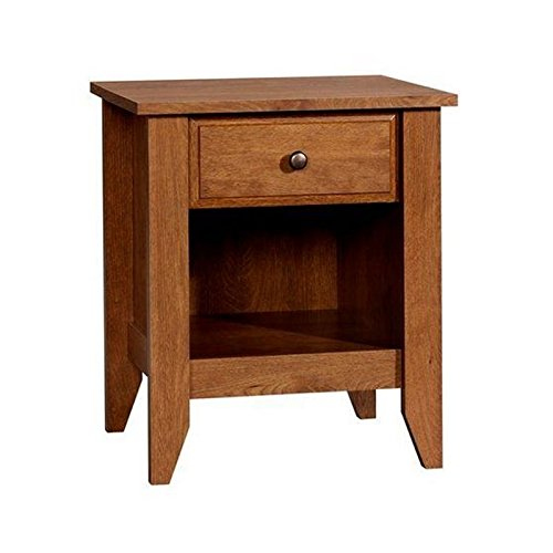 Sauder Shoal Creek Night Stand, Oiled Oak finish (Bedside Wood Table)