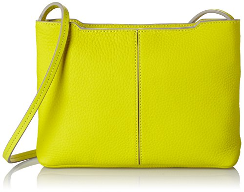 ECCO Womens Jilin Small Crossbody Cross Body Handbag, 4 x 17 x 26 cm (Wxhxd) Yellow (Sulphur 90374)