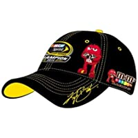Action Sharp Looking 2015 Champion Championship Kyle Busch #18 MMS M&Ms Joe Gibbs Hat with Yellow Highlights Hat Cap One Size Fits Most OSFM with Adjustable Strap