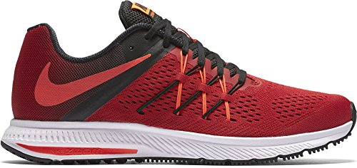 Nike Mens Zoom Winflo 3 Scarpa Da Corsa Rosso / Nero