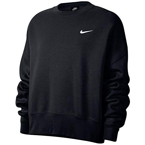 Nike Sportswear Essentials Women's Fleece Crew CK0168-010 Size S Black/White