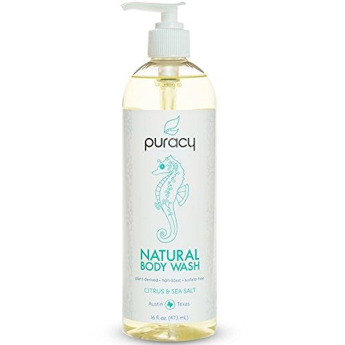 Puracy Natural Body Wash, Citrus and Sea Salt, 16 Fluid Ounce