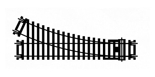 Ho Standard Gauge - Hornby HO/OO Gauge R8073 Right-Hand Standard Point, 168mm, 2nd Radius, 22.5-Degree