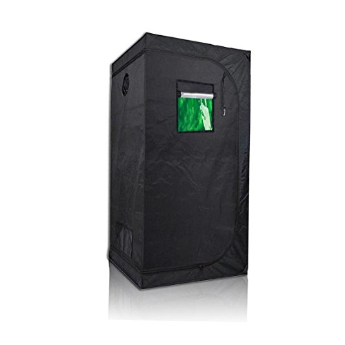 "Price Off Peseetek Indoor Grow Tent With Green Observation Window Stronger Steel Frame&High Reflective Mylar Grow Room For Indoor Planting Grow Tent Floor Tray Included (36''x36''x72"" with Window) - 36' Diameter 5 Light"