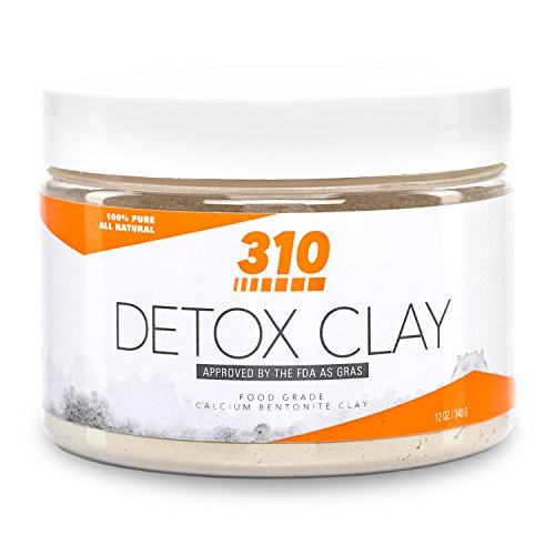 310 Detox Clay - Calcium Bentonite Clay | Natural Food-Grade Clay | High pH Level of 9.7 | Purify Your Body