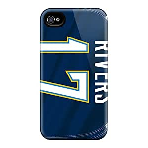 For MikeEvanavas Iphone Protective Cases, High Quality For Iphone 4/4s San Diego Chargers Skin Cases Covers