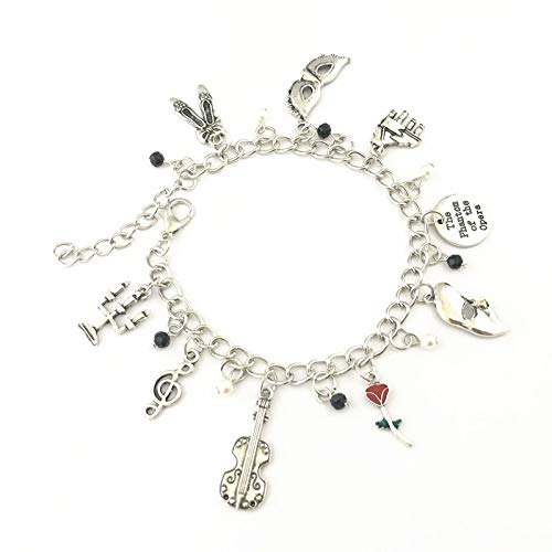 Phantom Of The Opera Charm Bracelet - Broadway Musical Soundtrack Jewelry Merchandise Gifts Women Girls