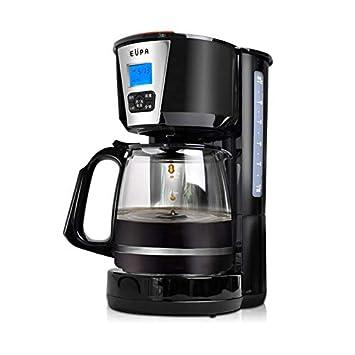 Cafetera Automática Inteligente/Cita De La Máquina Del Té Casera/Comercial Anti-Goteo Pequeña Preservación Del Calor Negro 1080W / 220V / 1.8L: Amazon.es: ...