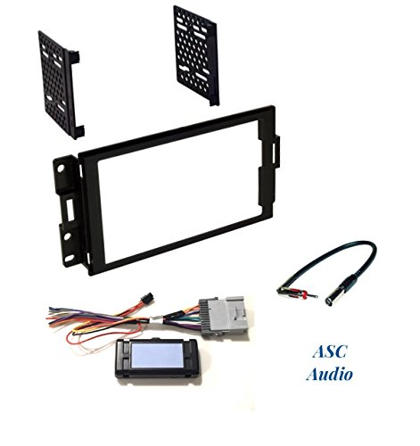 ASC Audio Premium Car Stereo Radio Dash Install Kit, Wire Harness, and Antenna Adapter to Install a Double Din Radio for 2004 2005 2006 2007 2008 Pontiac Grand Prix with and without Bose/Amp System