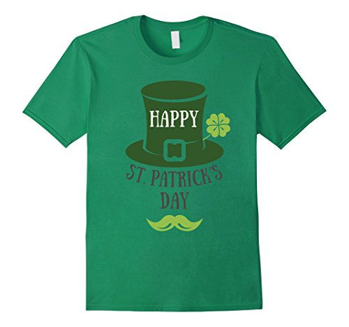 Men's Happy St Patrick's Day Luck Irish 2017 T-Shirt Shamrock Kids Medium Kelly Green (Patrick Day San Happy)