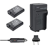 Bonacell 2 Pack Replacement 1500mAh Nikon EN-EL14 Battery and Charger Kit for Nikon D3400, D3100, D3200, D3300, D5100, D5200, D5300, D5500, D5600, DF, Coolpix P7000, P7100, P7700, P7800 DSLR Camera