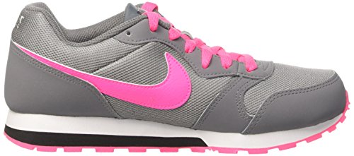 Nike MD Runner 2 (GS) - Zapatillas Para Niña, Multicolor Gris (Cool Grey / Hyper Pink Black)