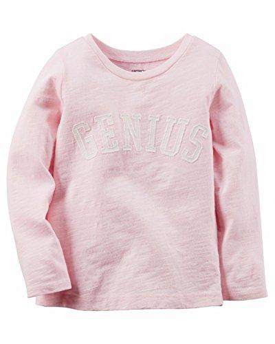Carter's Girls' Long-Sleeve Light Pink Graphic Tee, 8 Kid