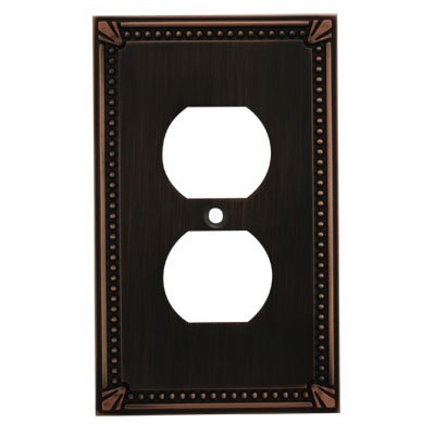 Cosmas 44018-ORB Oil Rubbed Bronze Single Duplex Electrical Outlet Wall Plate / Cover
