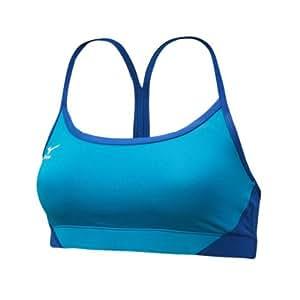 Mizuno Women's Hybrid Bra Top, Blue/Royal, X-Small