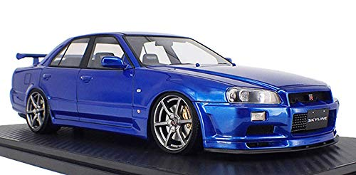 TK.Company Ignition Model 1/18 Nissan Skyline 25GT Turbo (ER34) Blue Metallic 2 Normal Wheel Finished Product