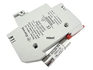 MISOL 10 units of PV solar fuse 10A 1000VDC fusible 10x38 gPV, with holder